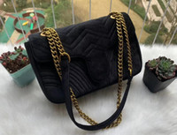 Venda quente Moda Marmon Veludo sacos de ombro mulheres camurça veludo cadeia crossbody saco bolsas saco feminino gi12354