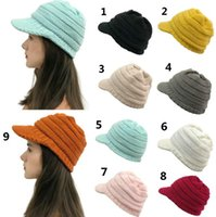 2020 heiße Art Winter Hutkrempe feste Farbe wulstige Hut, Mütze Krempe Barett Ski Hut Jumper-Kappe.