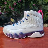 mens di marca Classic White JBC9 Mens scarpe da basket di alta moda carina Rosa multi colore 9s all'aperto allenatori sportivi sneakers EUR 40-47