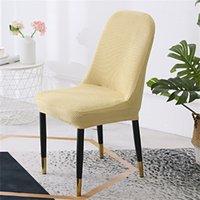 Feste Farbstuhlabdeckung Elastisches Sofa-Büro Halbkreisförmig Universal Mode Sitz Kissenstühle Rückenlehnenabdeckungen Haushaltsbedarf 10YG K2