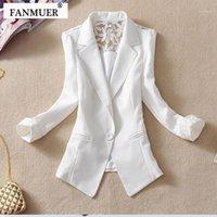 Abiti da donna Blazer Fanmuer 2021 femmina abito donna Blazer elegante tre quarti manica donna tuta sportiva vestiti giacca estate1