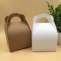 30pcs / lot Natural Brown y Blanco Caja, Caja de embalaje de papel Kraft, caja de jabón 30pcs / lot Jllsch