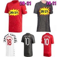 Top Quality2020 2021 Manchester Jerseys Cavani Fernandes United Rashford Utd Camisa de Futebol 20 21 Quarto Homem HumanRace
