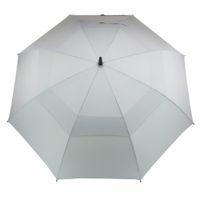 Гольф Зонтик для мужчин Автоматического Открытого ветрозащитного Зонтики Extra Large Double Негабаритные Навес вентилируемого Водонепроницаемого Стик 62-дюймовый Грея