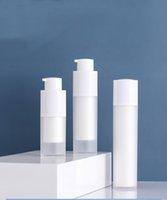 30ML متجمد تدوير زجاجة الرش مع مضخة بيضاء لاسليوني / مستحلب / مصل / مؤسسة العناية بالبشرة التعبئة التجميل