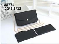 2 style sac de téléphone portable portefeuille trois pièces, nouveau sac de la chaîne de trois en un seul sac de messager à l'épaule détachable