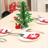 مصغرة عيد الميلاد الجورب ندفة الثلج والسكاكين حقيبة عيد الميلاد الديكور المنزلي جوارب عيد الميلاد سكين شوكة أدوات المائدة حامل هدايا عيد الميلاد حقيبة RRA3726