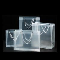 Klare PVC Weihnachtsgeschenkbeutel Matt-Kunststoff Transparente Verpackung Handtaschen Partei Favoriten Mode Wasserdichte Säcke Heißer Verkauf 1 88gc G2