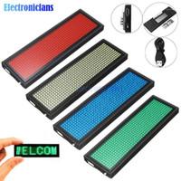미니 LED 디지털 디스플레이 충전식 프로그래머블 이름 배지 15 디스플레이 언어 내구성 스크롤 LED 태그 기호 배지 모듈 1