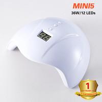 매니큐어를위한 자외선 램프 36W LED 네일 건조기 램프 태양 빛 모든 젤 폴란드어 건조 UV 젤 USB 스마트 타이밍 네일 아트 도구