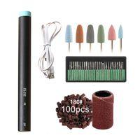 Elektrische Nagelbohrer Maniküre-Maschinensatz LED-Mini-Bohrer-Stift-Bitschneider zum Entfernen von Gel-Lack Nagelpediküre-Schleifwerkzeuge