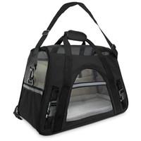Und unter für Sicherheitsbett-Reisetasche Hunde weiche mit Träger mit Träger, die Luftflugzeuge tragen Bolster Katzen Fleece Eopll Juhou