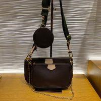 5A 핸드백 여성 핸드백 멀티 포 칼 가방 체인 크로스 바디 가방 패션 작은 어깨 가방 3 PC 멀티 컬러 스트랩 44823 상자
