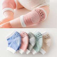 Bebê rastreamento de algodão menina meninos meninos joelho protetor de algodão macio toddler bebê joelheira almofadas de segurança acessórios de cobertura do joelho