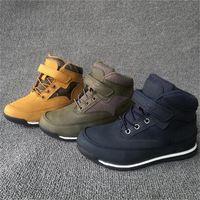 Мальчик зимние теплые хлопковые сапоги мальчиков кроссовки прохладно и стильные повседневные туфли размером от 28 до 35 WallVell Y201028