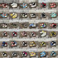 Nuovo Mini 3D Stereo Sneaker Sneaker Portachiavi Donna Uomini Bambini Portachiavi Regalo Gift Shoes Luxury Shoes Keychains Car Handbag Catena chiave Scarpe da basket Scarpe da basket