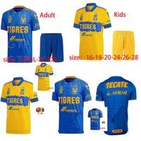 الكبار للرجال = مجموعة الأطفال 2021 UANL TIGRES GIGNAC قميص كرة القدم مجموعة 20 21 Vargas Camiseta Mailleot Home و Oway Pizarro Mexico Football