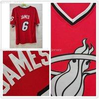 Cosido Custom 2013 Hot Team 6 James Christmas Jerseys de manga corta Bordado Baloncesto Tops Red Mujeres Juveniles Mens de baloncesto Jers