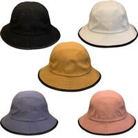 دلو قبعة بخيل بريم القبعات الشمس حماية فيدورا المرأة قبعات الرجال قبعة بيني