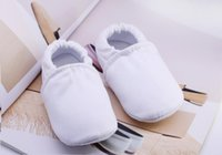 Newborns Baby Shoes White Cotton Infant Boys First Walkers S...
