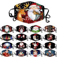 Mascarilla de la boca de Navidad a prueba de polvo Xmas protector creativo Anti-Haze cómodo 17 estilos Cubierta de copo de nieve Máscaras lavables transpirables