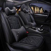 Cubiertas de asiento de automóvil Cobertura completa Asientos de cuero ecológico Cuero de PU para SSANGYONG ACTYON KORANDO KYRON REXTON1