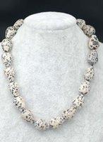 Chains Rose Quartz/ Black Spot Agte/ocean/gray/egg Agate/kambaba Jasper Drop Faceted 15*20mm Necklace 17inch Nature FPPJ