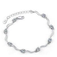 HYWO Nefis Şık Zarif Minimalist Tarzı 925 Ayar Gümüş Avusturya Zirkon Kristal Manşet Bilezik Kadınlar Için Hediyeler MMHUT 8S2TV