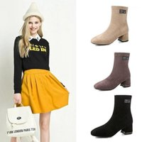 One Yona 2021 Winter Neue Web Celebrity Stretch Stoff Frauen Stiefel Plattform Spitz TOE TOLE Heels Slip-on Damen Boots1
