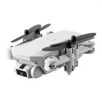 LS mini wifi fpv مع 5.0mp hd كاميرا ارتفية عقد وضع طوي rc drone quadcopter rtf الأبيض 1