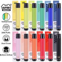 Orijinal VAPEN MACRO 2000 Puffs Tek Kullanımlık 12 Renkler Vape Kalem Sopa Dikey Bobin Puf Plus XXL Bang Anahtarı Dispsoables Max Pro Fume Ekstra