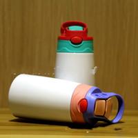 الفراغات التسامي 350ML كأس سيبي الفولاذ المقاوم للصدأ مزدوجة الطابق المياه مقبض زجاجة سترو فراغ شرب القدح أفضل بائع 16 5DS F2
