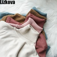 Lizkova 60% Cashmere fusione maglione dolcevita donne multicolore morbido maglione del pullover autunno caldo Cashmere Soft Top 200928