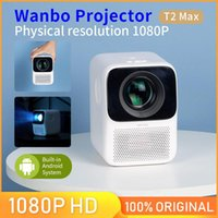 #Global Versão # Wanbo T2 MAX Projector LED LCD 4K HD 1080p Vertical Keystone Correction portátil Mini Projetor Home Theater