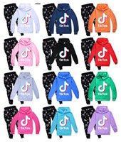 2021 Ev Sundries 2 adet / takım IKTOK Çocuklar Set Uzun Kollu Hoodie Pantolon Pamuk Karışımı Renkli Opsiyonel Tik Tok Giysileri Erkek Kız Giyim