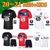 2020 2021 New Losc Lille Soccer Jerseys Fonte Bamba Yazici J David Camisa de Futebol 20 21 Lille Olympique Jikone 10 Adult filho Kit