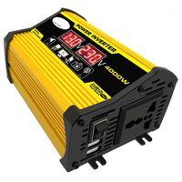 4000W 12V до 220V / 110V светодиодный дисплей автомобиля мощность преобразователя преобразователя автомобиля двойной USB-напряжение трансформатор модифицированной синусоидальной волны1