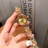 Dress Gold Lady Orologi Top Brand Band Acciaio inossidabile 30mm quadrante diamante orologio per le donne Best Valentine Regalo Orologio di Lusso Dropshipping