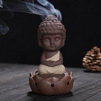 Kum Tütsü Brülör Seramik Bir Budist Keşiş Süsler Güzel Dekoratif Koku Lambaları Buhurluk Lotus Meditasyon Oturur YENI 9YS K2