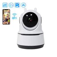 Kapalı Kablosuz Güvenlik Kamera 1080 P WIFI IP Ev Gözetim Sistemi İnsan İzleme Ile İki Yönlü Ses Bebek Kamera