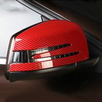 ABS 2pc / lot Dikiz Aynası Kapağı Çıkartma Etiket Araba Şekillendirme Mercedes A Sınıfı 2013-2018 GLA 2015-2018 CLA 2014-2018