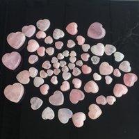 Cristalli naturali Pietre Heartshaped rosa amore Healing Ornamenti scolpito arti e mestieri della pietra preziosa delle donne di Bella Bella 5tr3 M2