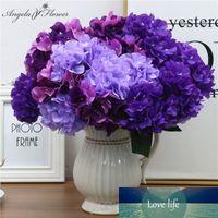 6 grandes têtes fleur artificielle bouquet soie hortensia mur fleur décoration mariage maison de fleurs mariée bouquet faux cadeau de Noël