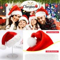 DHL عيد الميلاد سانتا كلوز القبعات الأحمر والأبيض حزب كاب القبعات للديكور سانتا كلوز عيد الميلاد حلي للأطفال الكبار قبعة عيد الميلاد FY6187