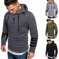 2020 New Design Autumn Winter Men's Casual Hooded Sweatshirts Pullover Fashion Drawstring Design Long Sleeve Hoodies Sweatshirts For Men