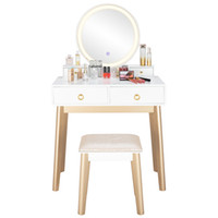 Bedroom Light Luxury Real Wood Dressing Table Simple Makeup ...