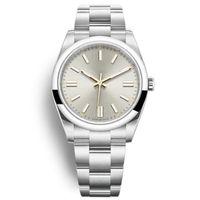 Relojes para hombre de buena calidad No hay fecha de acero abovedado automático Mecánico 8 Color Rojo Pink Blck Silver Light Blue Wristwatch Montre Homme de Luxe