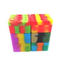4 + 1 Силиконовые контейнерные корпусные носители квадратной коробки Non-Stick 26 мл блочной коробки для DAB Wax нефть сухой травяной кремния хранения ДХЛ