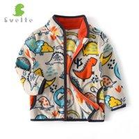 SVELTE для 2-14 YRS Boys Fleece Куртки моды Печатные узоры Падение Осень зимняя Верхняя одежда Весна Кардиганская Одежда 201126