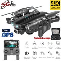 2020 Nuevo Drone GPS con cámara 4K 5G WIFI FPV RC Foldable Quadcopter Drone Flying Gesto Fotos Video Helicopter Juguete
